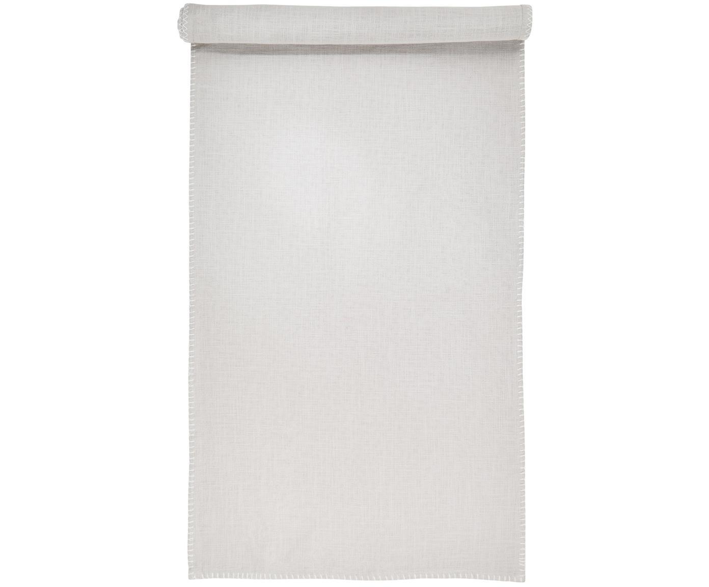 Tafelloper Finca, Katoen, Grijs, 50 x 160 cm