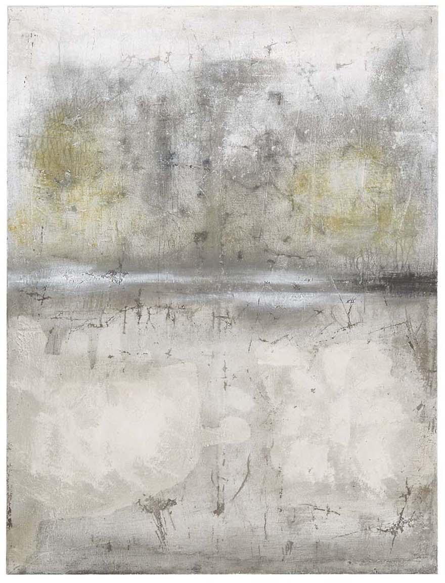 Handbemalter Leinwanddruck Shadows, Bild: Digitaldruck auf Leinwand, Grau, 90 x 120 cm