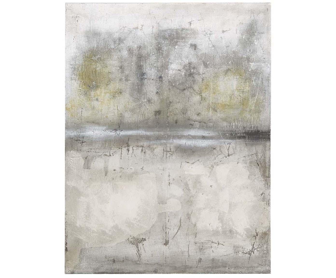 Ręcznie malowany druk na płótnie Shadows, Szary, matowy, S 90 x W 120 cm