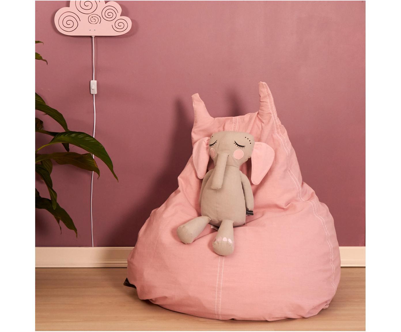 Sitzsack Happycat aus Bio-Baumwolle, Rosa, 90 x 100 cm