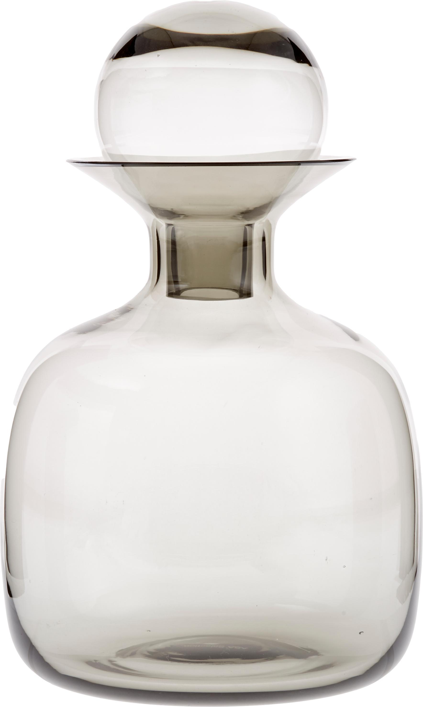 Handgemachte Karaffe Colored in Grau transparent, Glas, Grau, transparent, 1,5 L