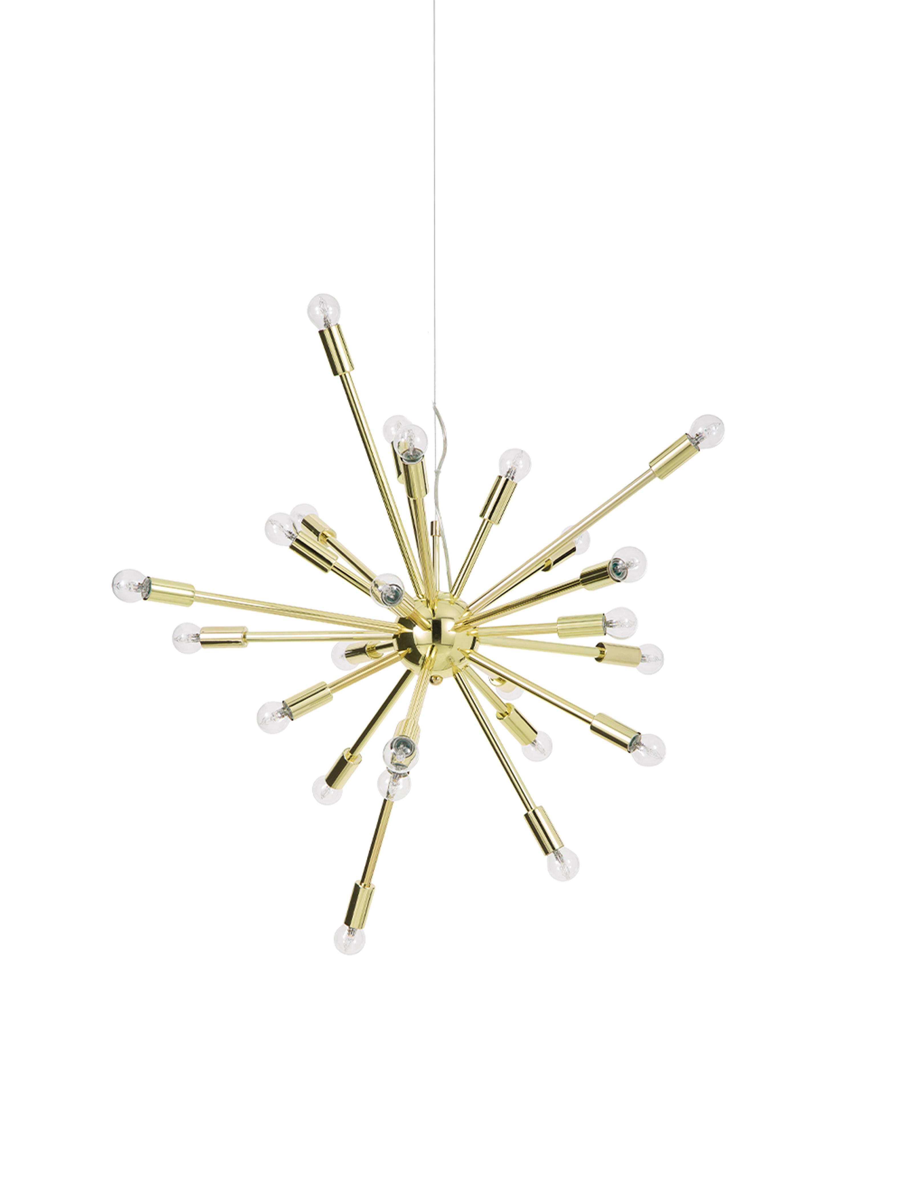 Lampada a sospensione in oro Spike, Baldacchino: metallo, Paralume: metallo, Dorato, Ø 90 cm