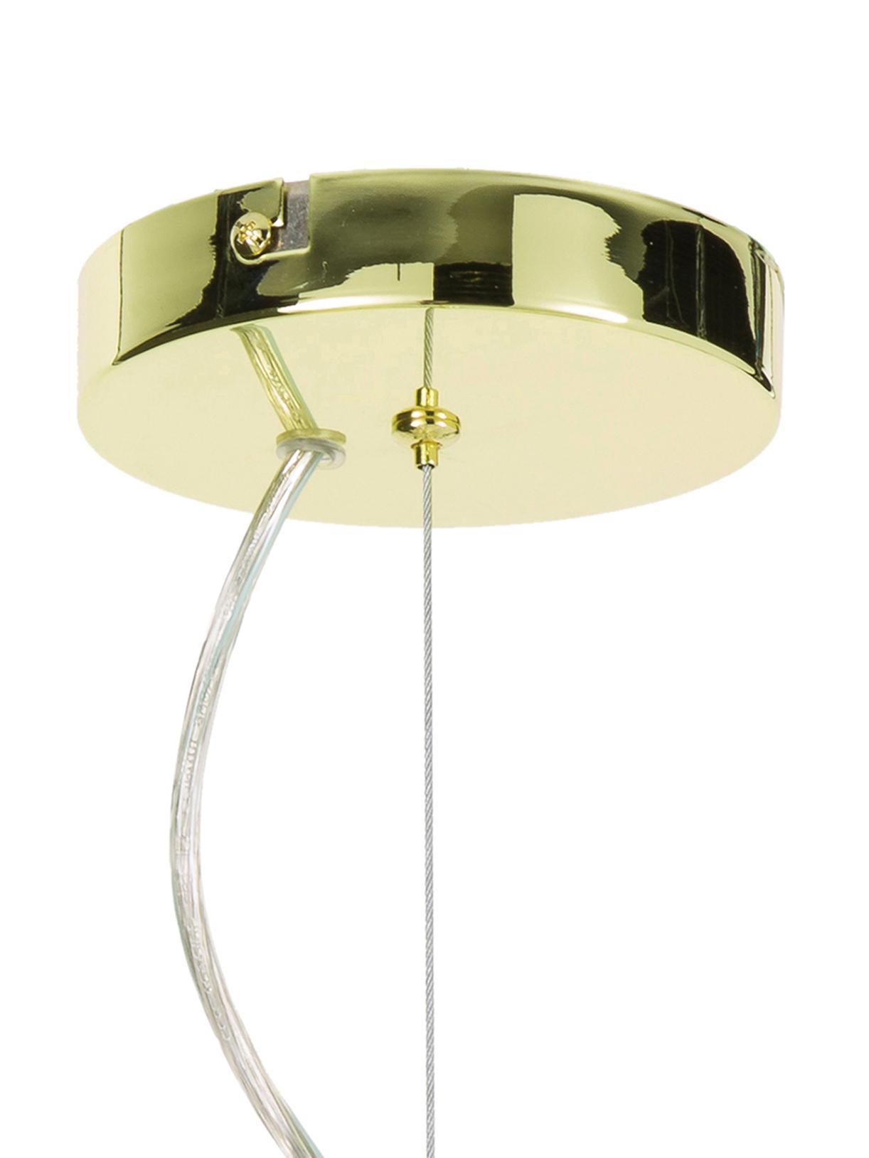Grosse Pendelleuchte Spike in Gold, Baldachin: Metall, Lampenschirm: Metall, Goldfarben, Ø 90 cm