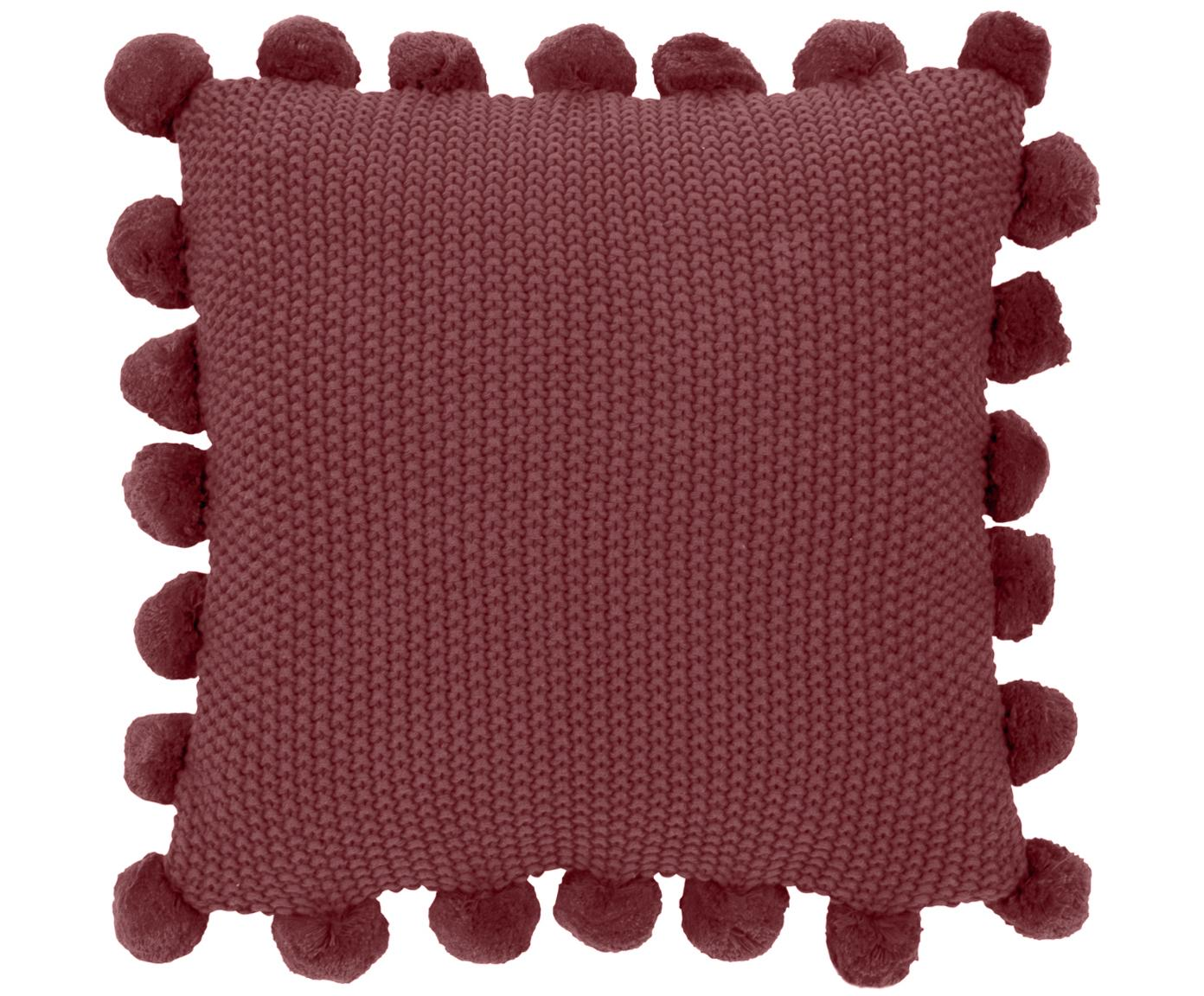 Funda de cojín de punto Molly, 100%algodón, Rojo, An 40 x L 40 cm