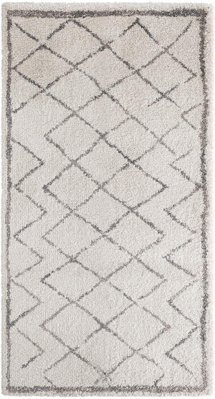 Tappeto polipropilene da interno-esterno Grace Diamond, Retro: juta, Crema, grigio, Larg. 80 x Lung. 150 cm (taglia XS)