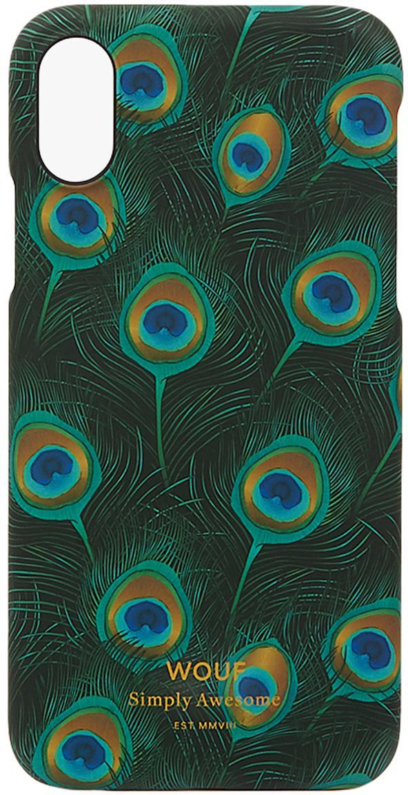 Cover  per iPhone X  Peacock, Silicone, Multicolore, Larg. 7 x Alt. 15 cm