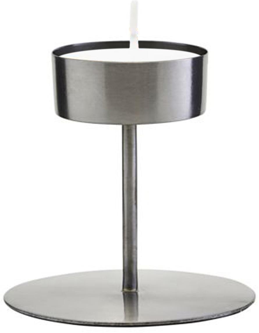 Waxinelichthouder Anit, Metaal, Metaalkleurig, Ø 11 x H 10 cm