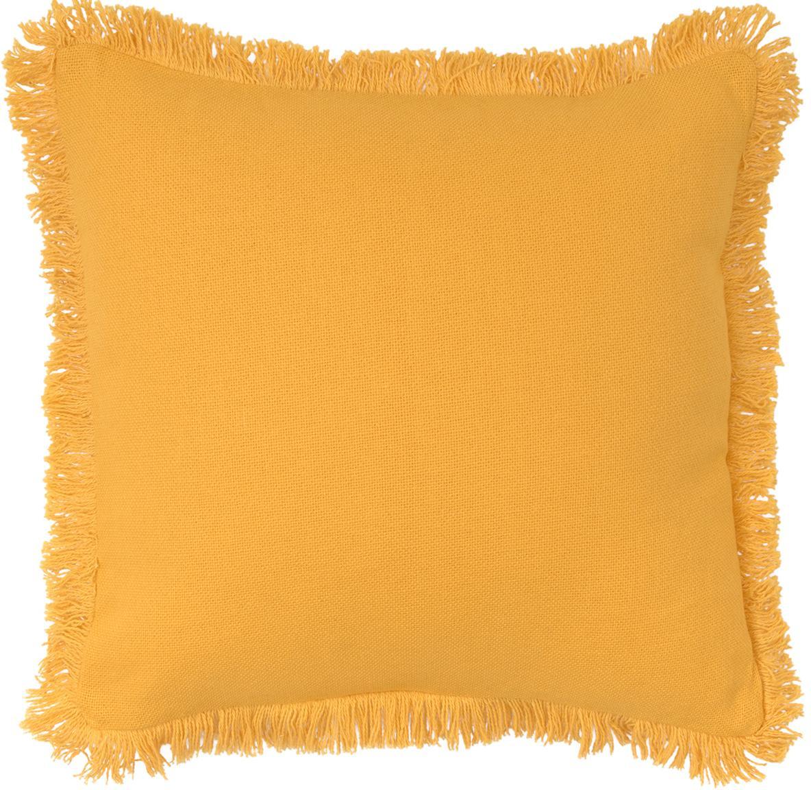 Poduszka z wypełnieniem Prague, Słoneczny żółty, S 40 x D 40 cm
