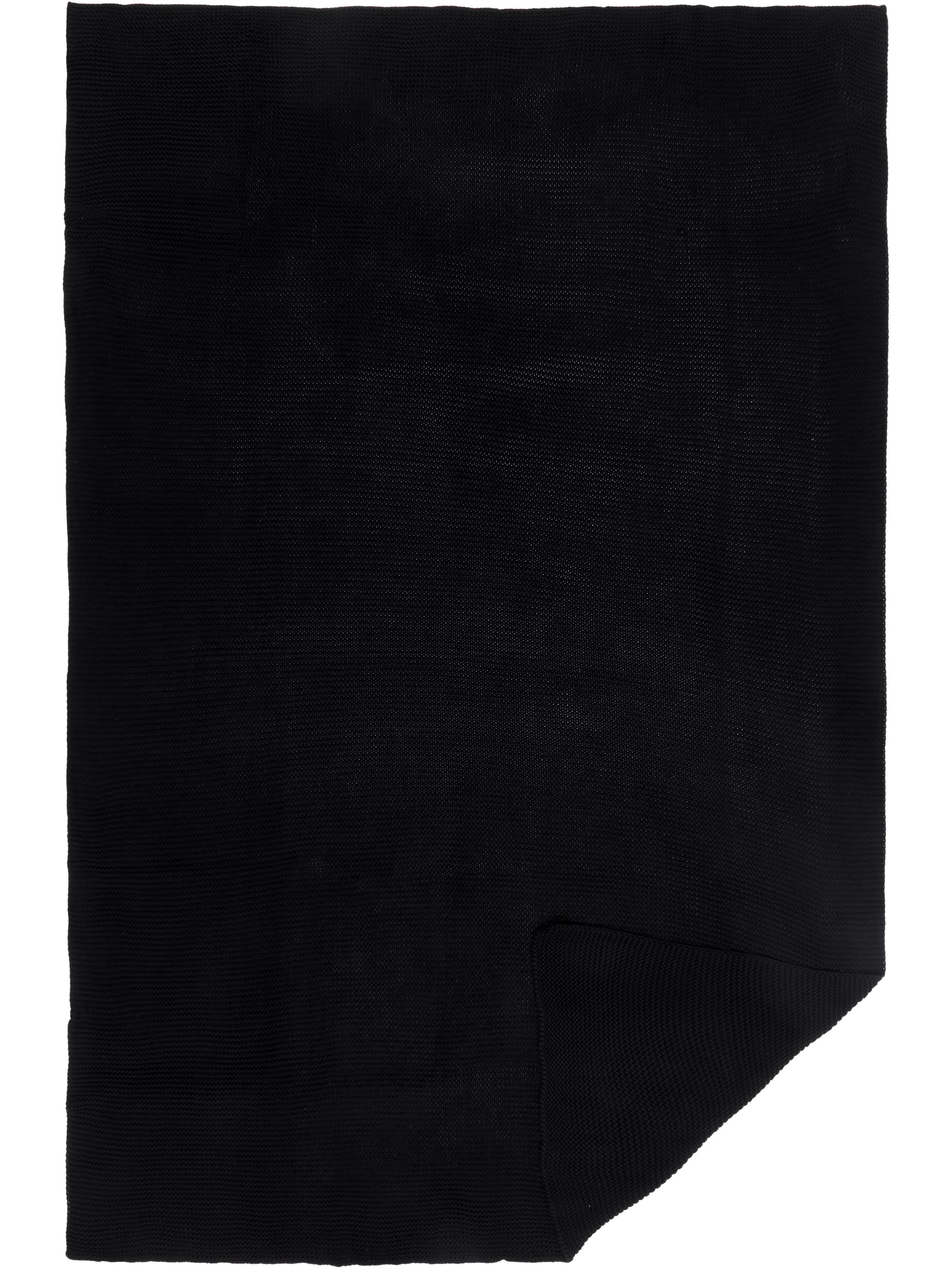 Pled z dzianiny Aladyn, 100% bawełna, Czarny, S 150 x D 200 cm