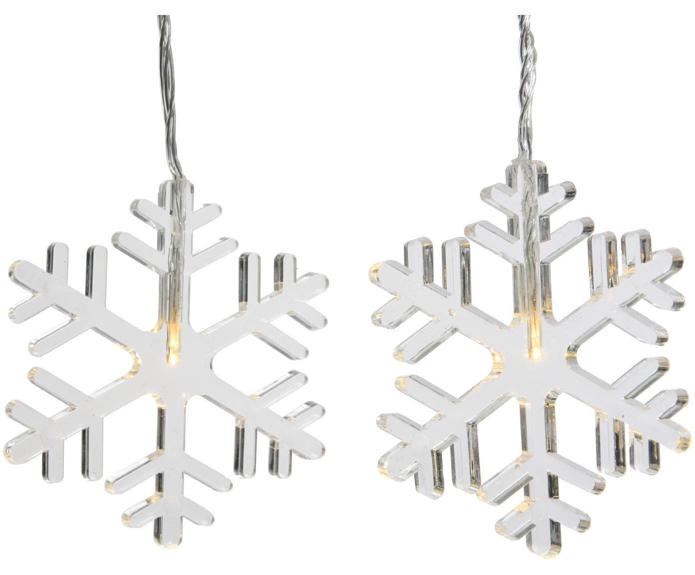 LED-Lichterkette Frost, Kunststoff, Transparent, L 105 cm