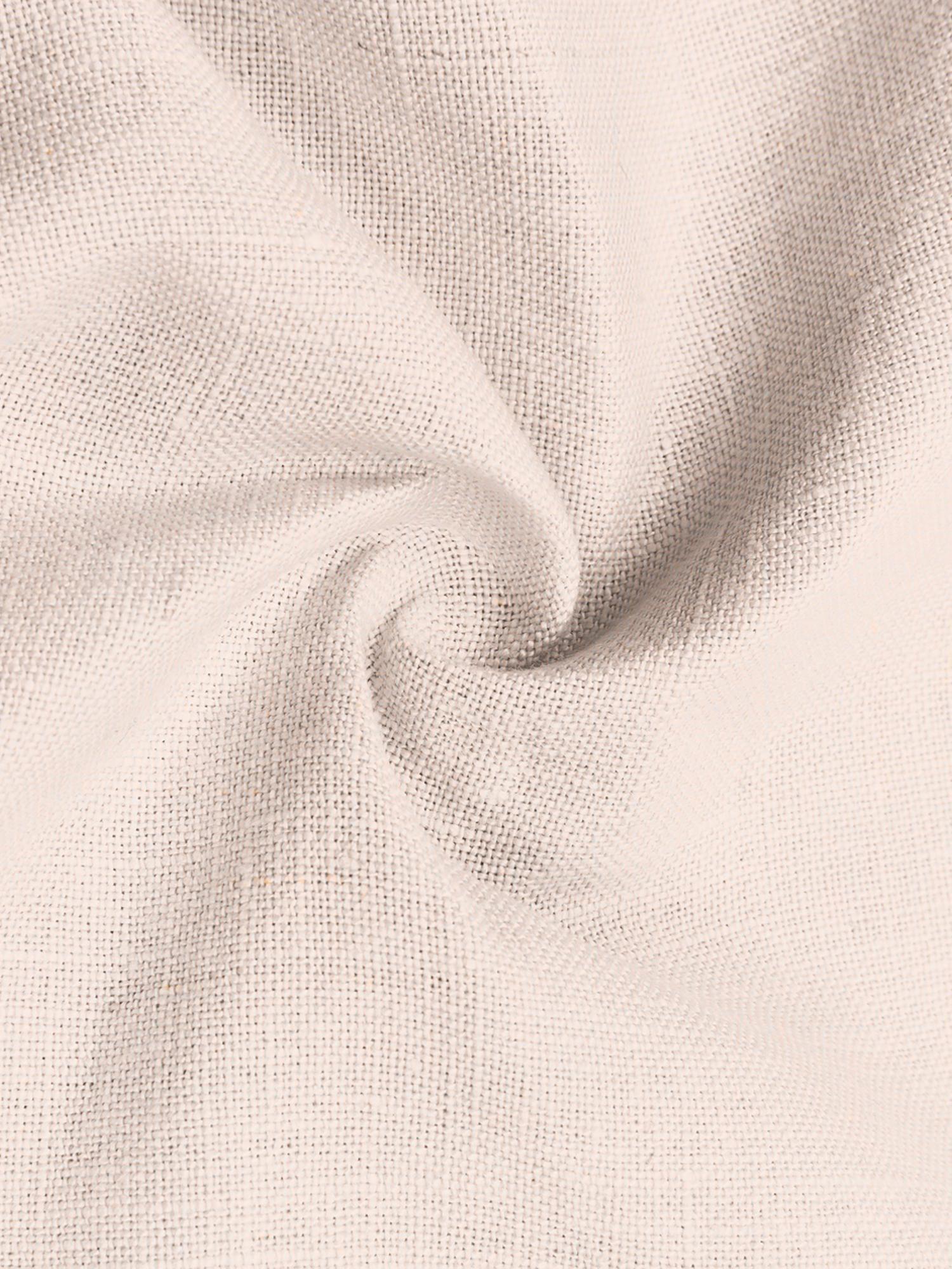 Funda de cojín de lino con flecos Luana, Lino, Melocotón, An 50 x L 50 cm