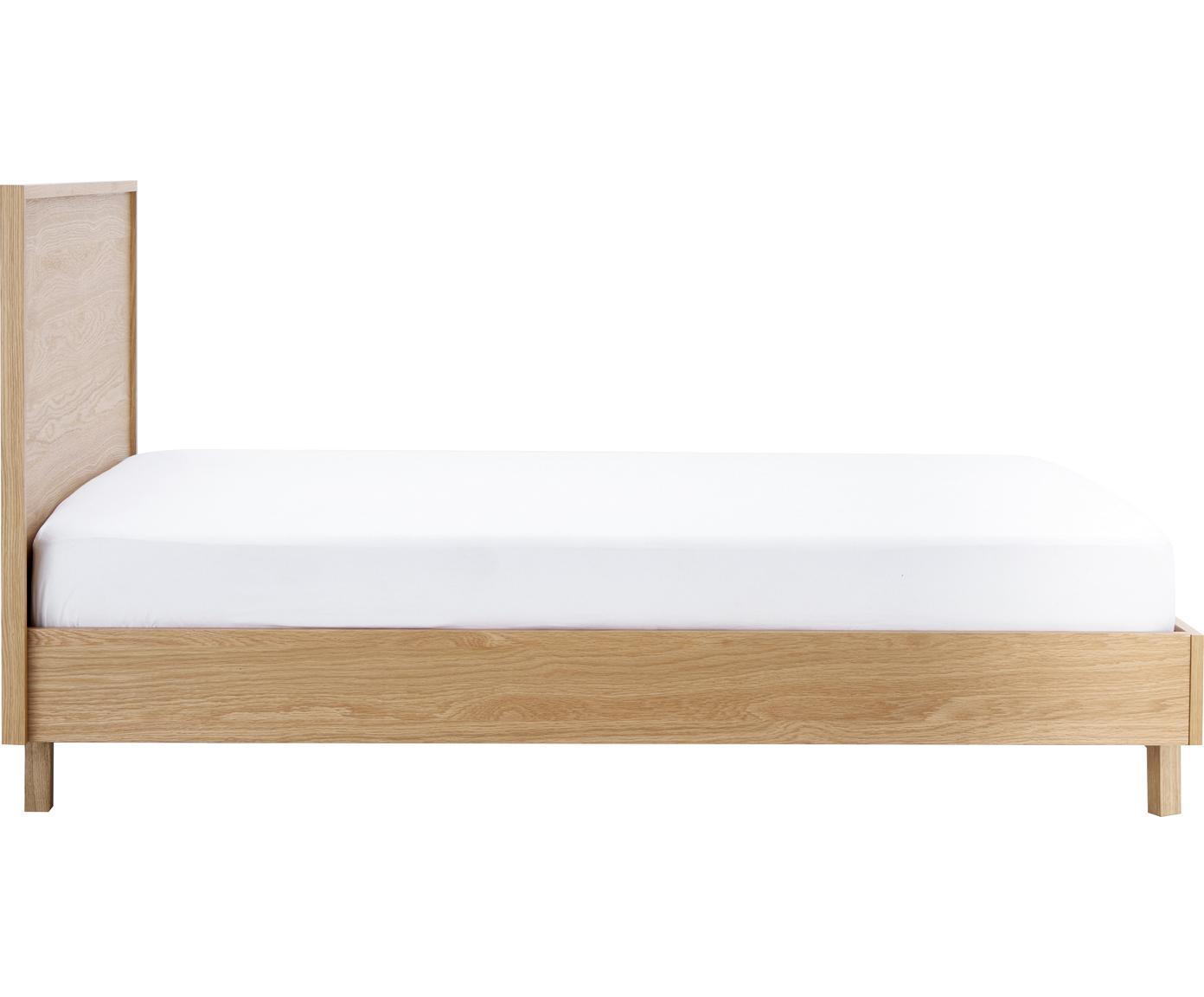 Dřevěný rám postele s čelem Tammy, Dub
