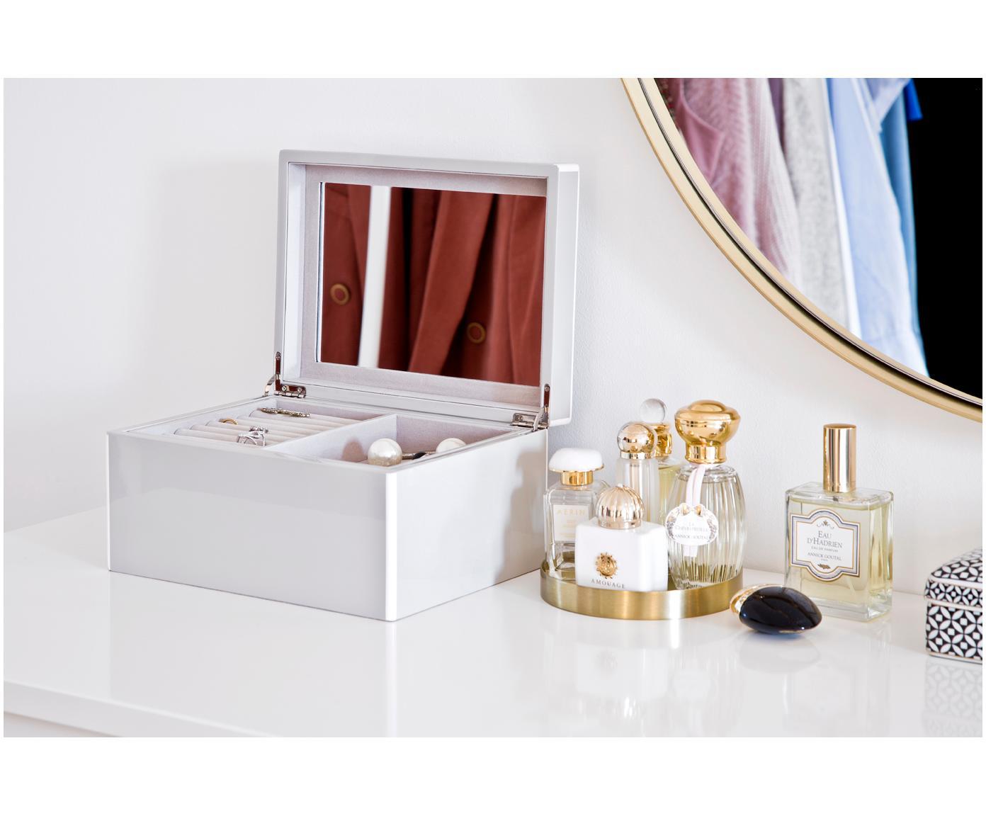 Sieradendoos Taylor met spiegel, Grijs, 26 x 13 cm