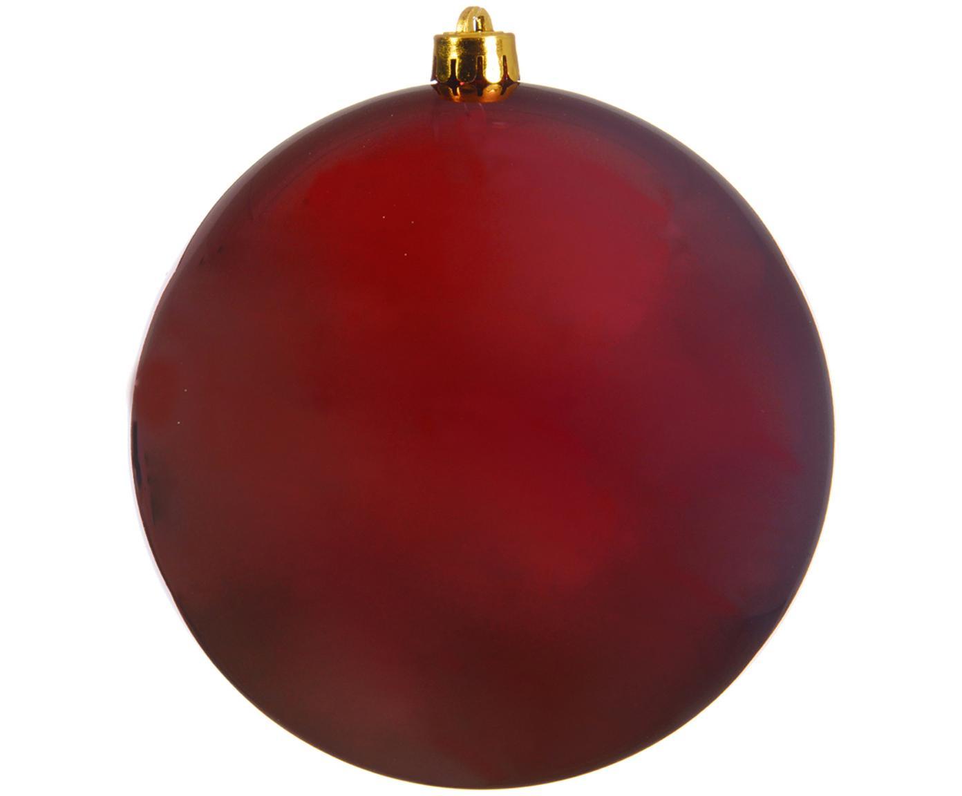 XL Weihnachtskugel Minstix, Kunststoff, Rot, Ø 20 cm