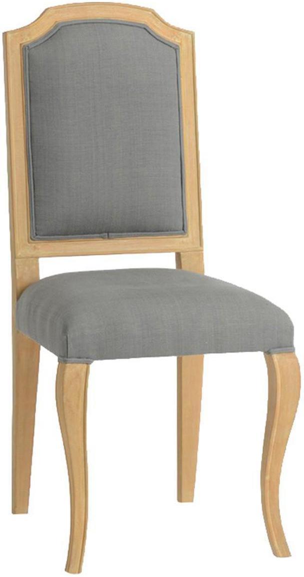 Silla tapizada Ete, Tapizado: tela, Beige, gris, An 46 x F 68 cm