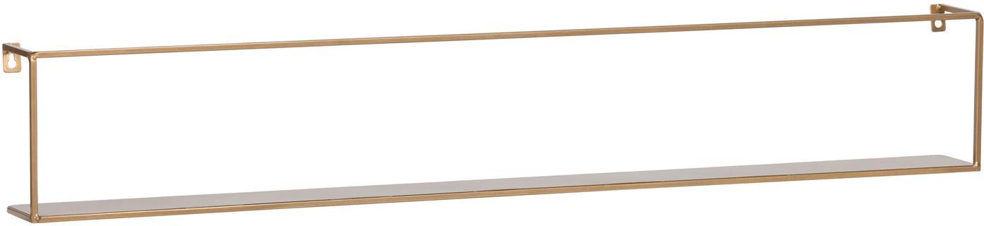Metalen wandrek Meert, goudkleurig, Gecoat metaal, Messingkleurig, 100 x 16 cm