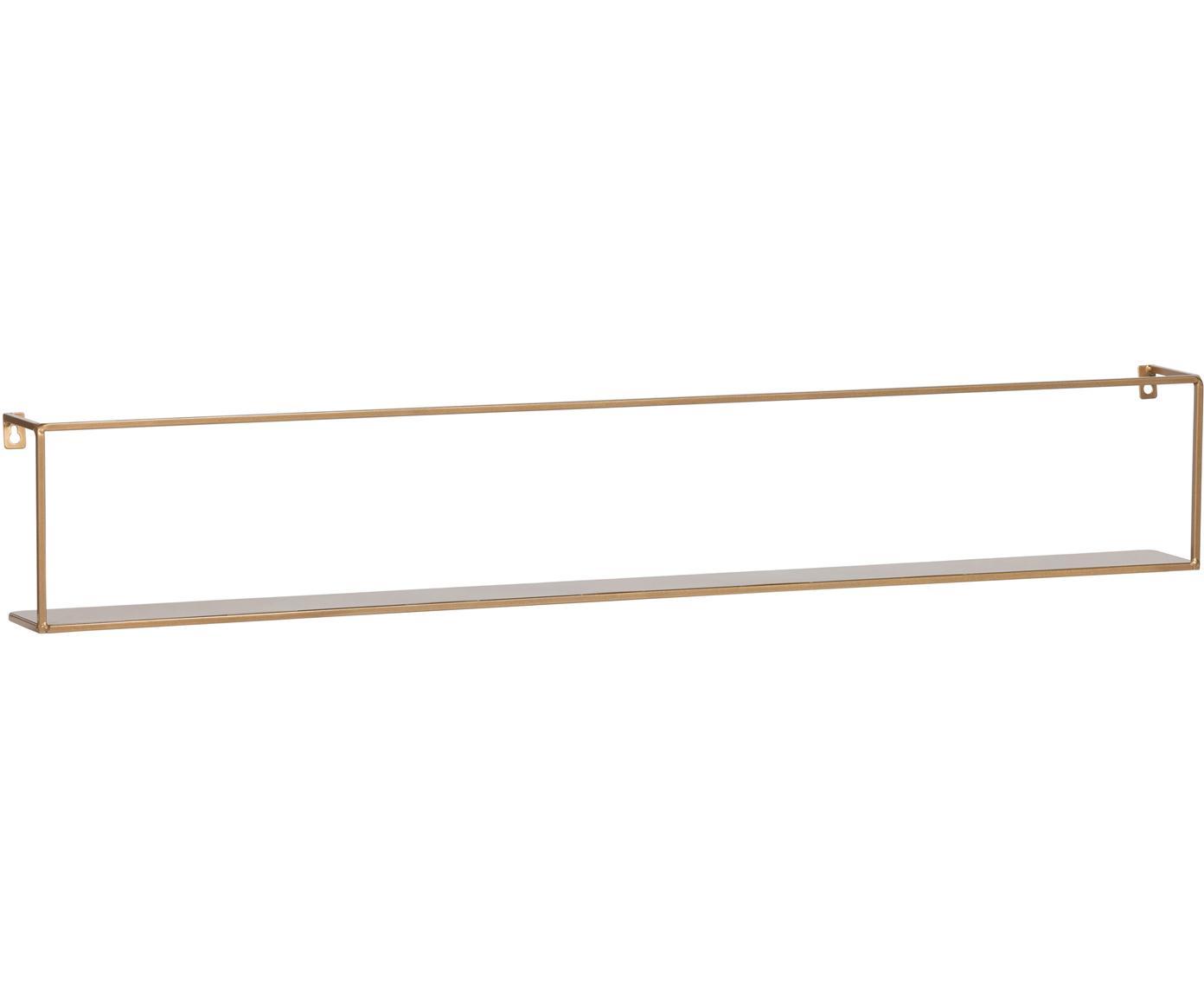Półka ścienna z metalu Meert, Metal powlekany, Odcienie mosiądzu, S 100 x W 16 cm