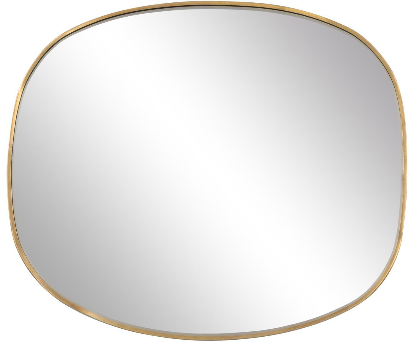 Specchio da parete Daily Pretty, Cornice: ottone, Superficie dello specchio: lastra di vetro, Ottone, Larg. 31 x Alt. 36 cm