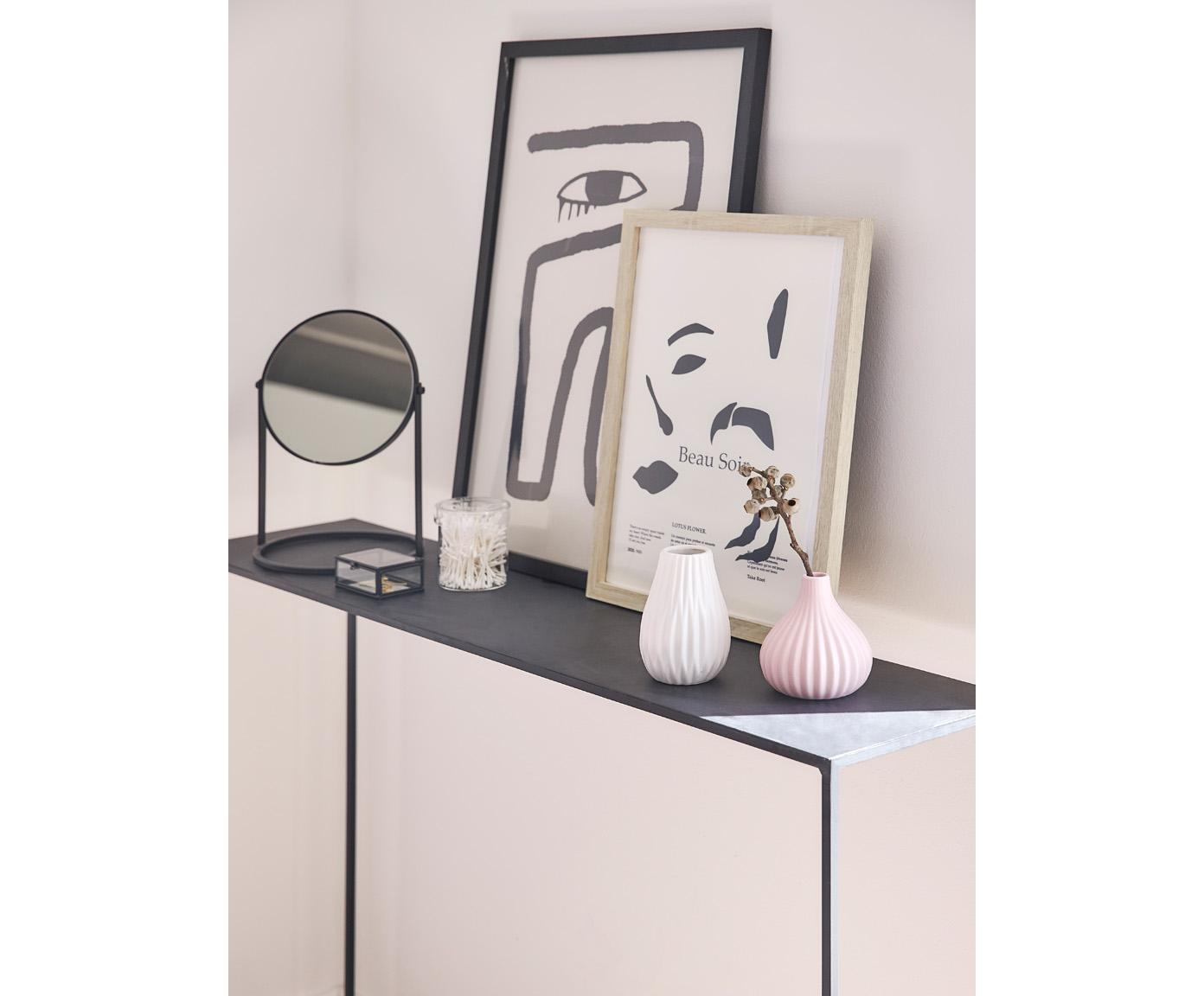Konsola z metalu Tensio, Metal malowany proszkowo, Czarny, S 100 x G 35 cm
