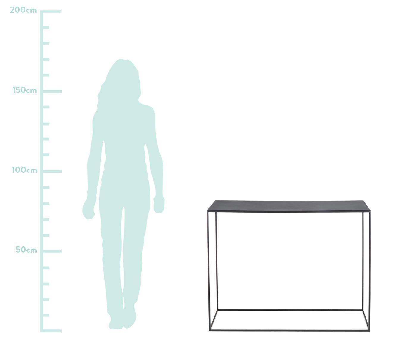 Metall-Konsole Tensio in Schwarz, Metall, pulverbeschichtet, Schwarz, B 100 x T 35 cm