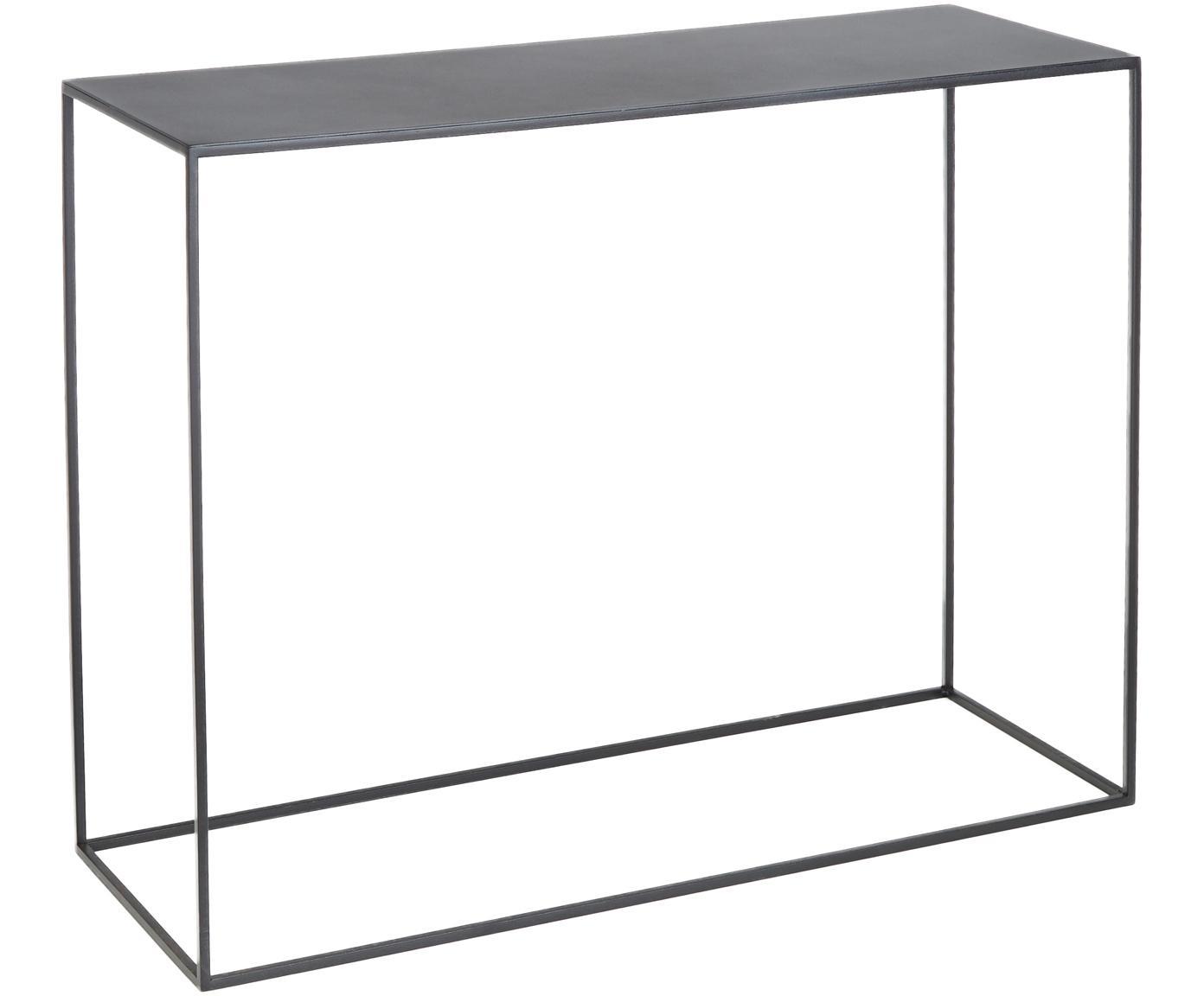 Consola de metal Tensio negra, Metal con pintura en polvo, Negro, An 100 x F 35 cm