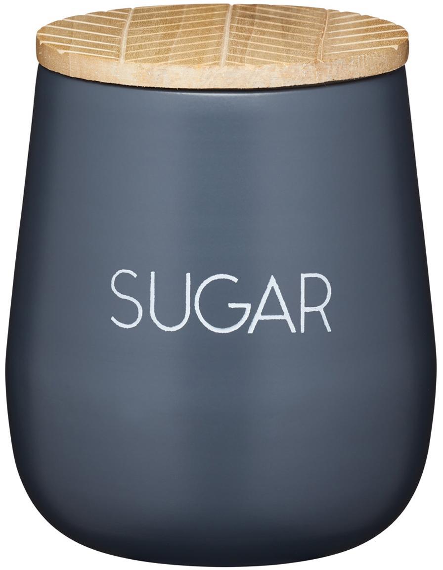 Contenitore Serenity Sugar, Acciaio, legno, Antracite, legno, Ø 13 x Alt. 9 cm