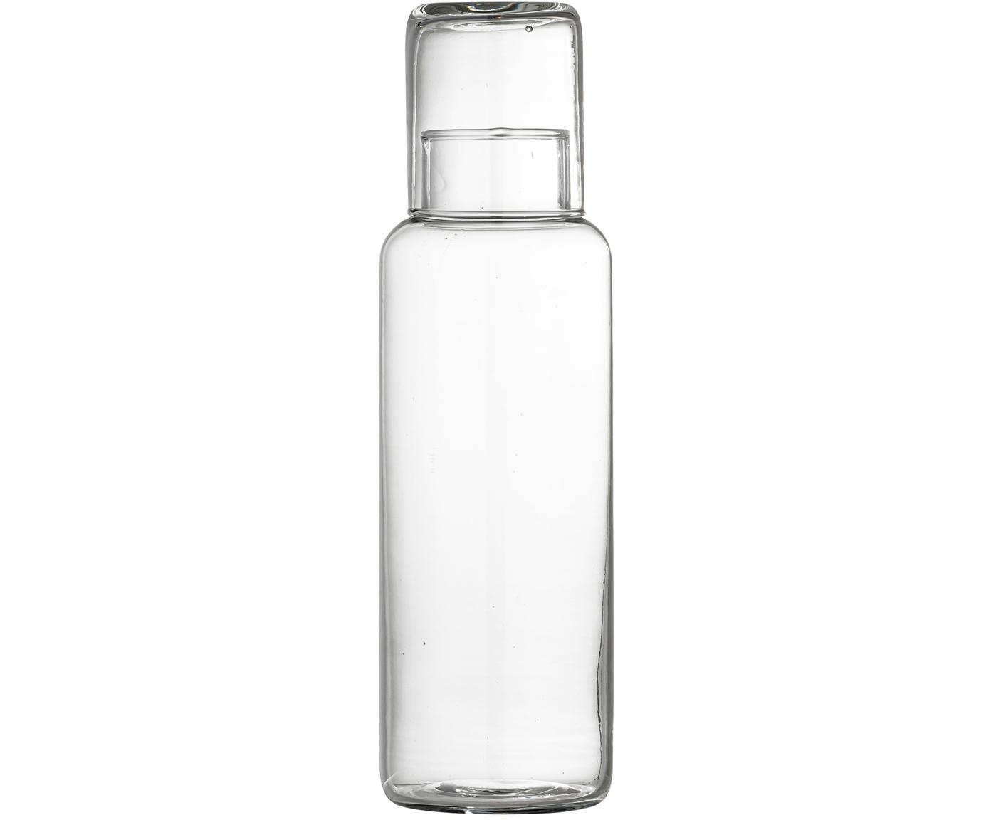 Karaffe Luna mit Trinkglas, Glas, Transparent, Sondergrößen