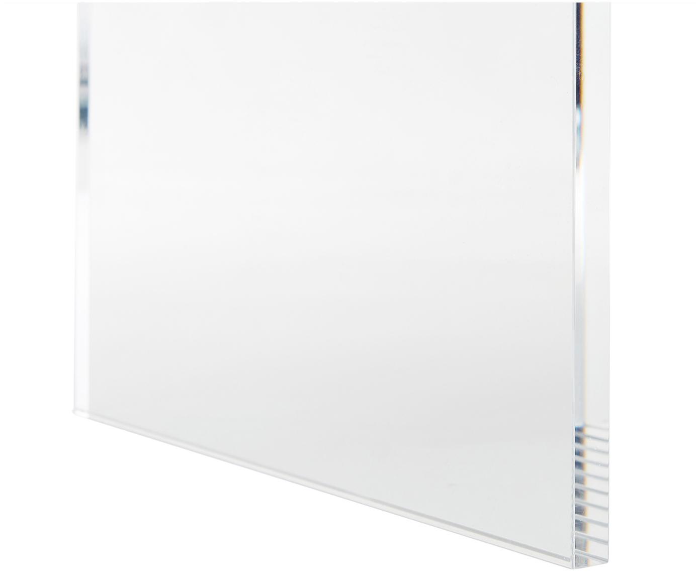 Samt-Hocker Ayden mit Gestell aus Acrylglas, Bezug: Samt (Polyester) 25.000 S, Gestell: Massives Pappelholz, Sper, Beine: Acrylglas, Bezug: BeigeGestell: Transparent, 61 x 45 cm