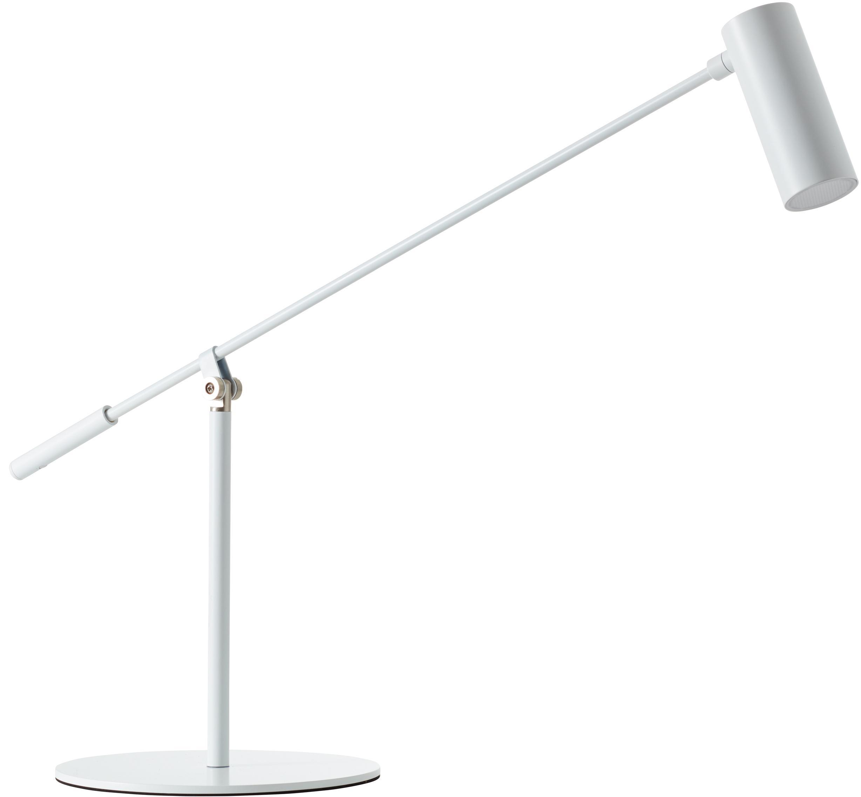 Lámpara de escritorio grande LED Wova, Pantalla: metal recubierto, Cable: plástico, Blanco, An 20 x Al 74 cm
