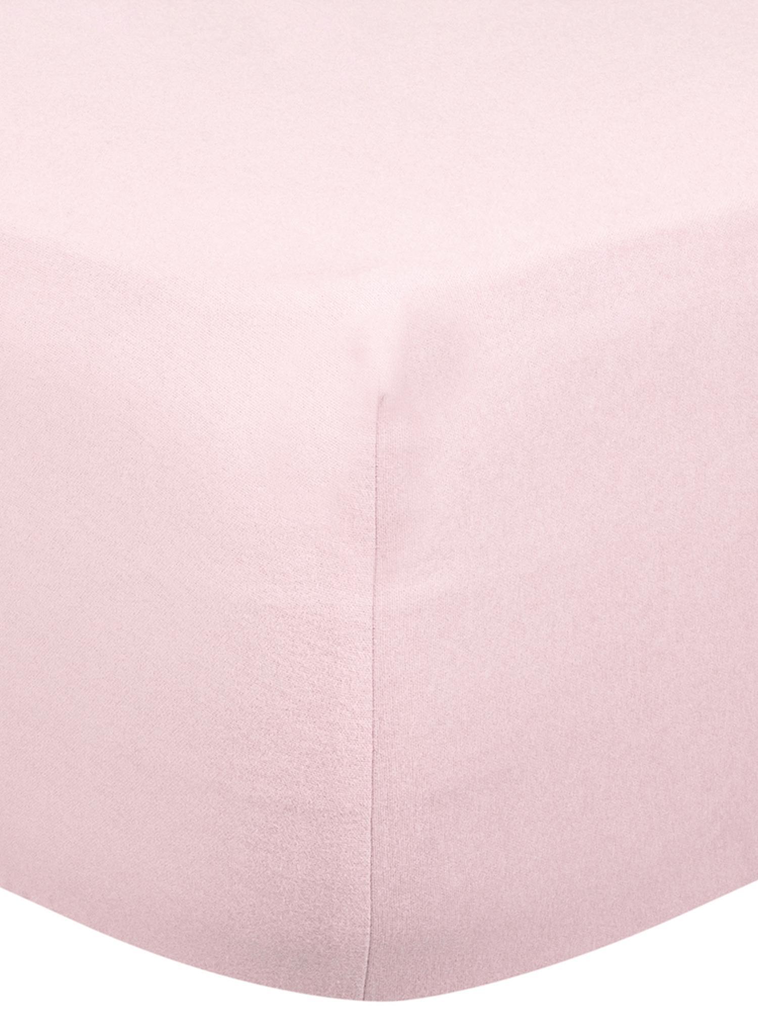 Spannbettlaken Biba in Rosa, Flanell, Webart: Flanell Flanell ist ein s, Rosa, 140 x 200 cm