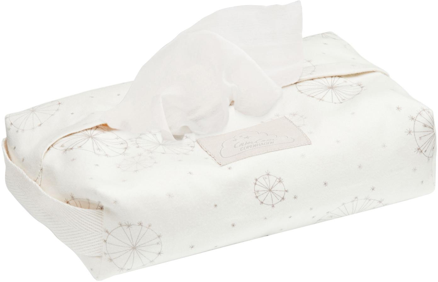 Porta salviettine in cotone organico Dandelion, Cotone organico, certificato GOTS, Crema, beige, Larg. 25 x Prof. 17 cm