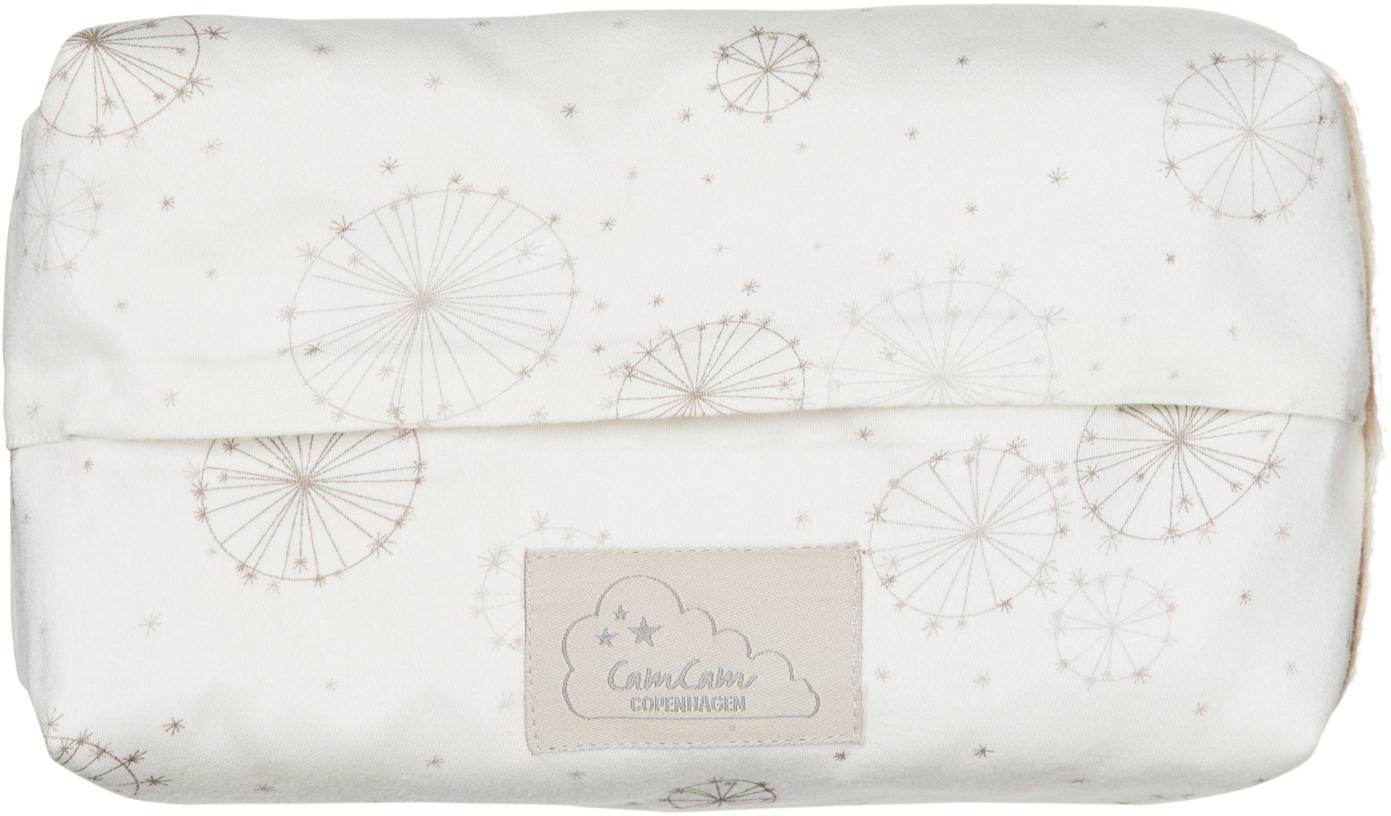Feuchttücherbezug Dandelion aus Bio-Baumwolle, Bio-Baumwolle, GOTS-zertifiziert, Creme, Beige, B 25 x T 17 cm