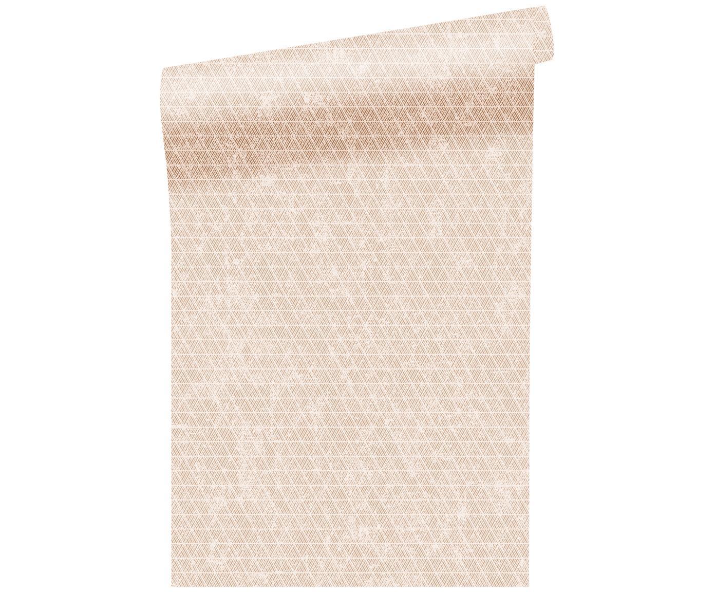 Carta da parati Luxury Triangle, Vello, Dorato , bianco, P 52 x L 1005 cm