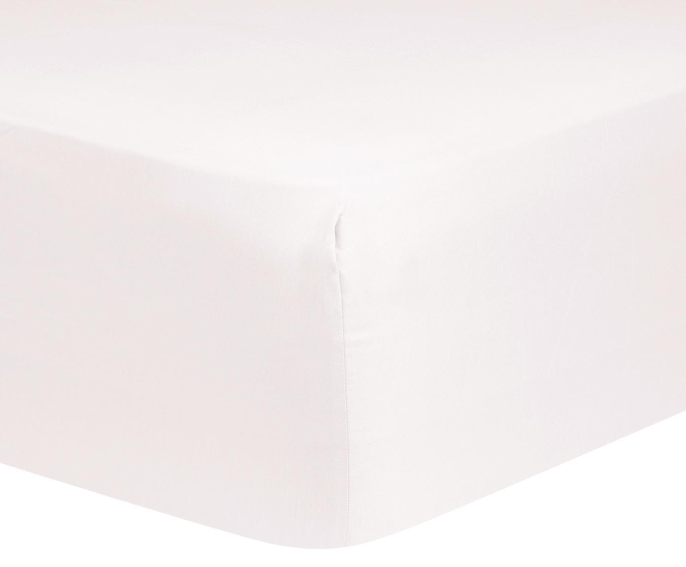 Prześcieradło z gumką z satyny bawełnianej Comfort, Blady różowy, S 180 x D 200 cm