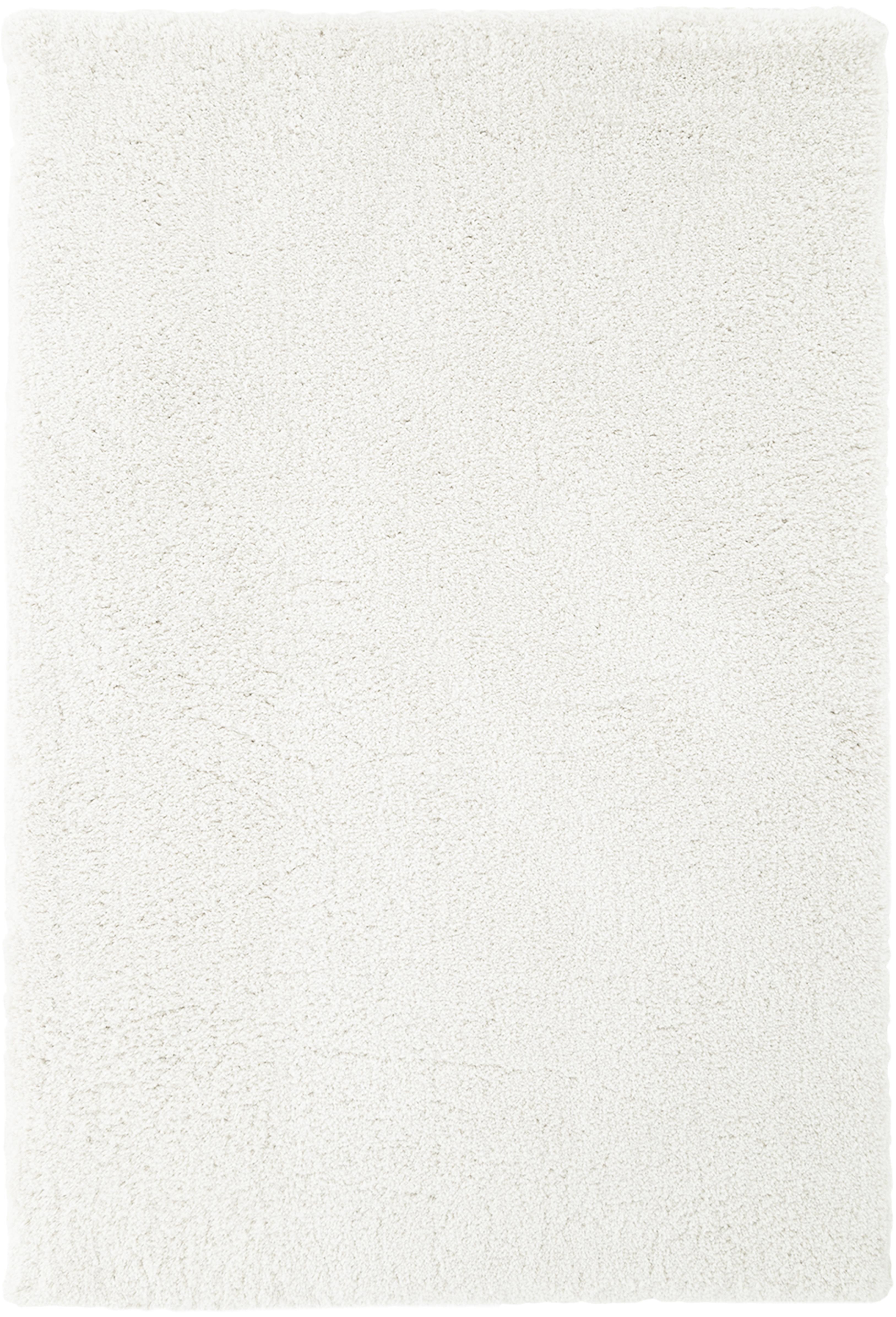 Pluizig hoogpolig vloerkleed Leighton in crèmekleur, Bovenzijde: 100% polyester (microveze, Onderzijde: 70% polyester, 30% katoen, Crèmekleurig, B 200 x L 300 cm (maat L)