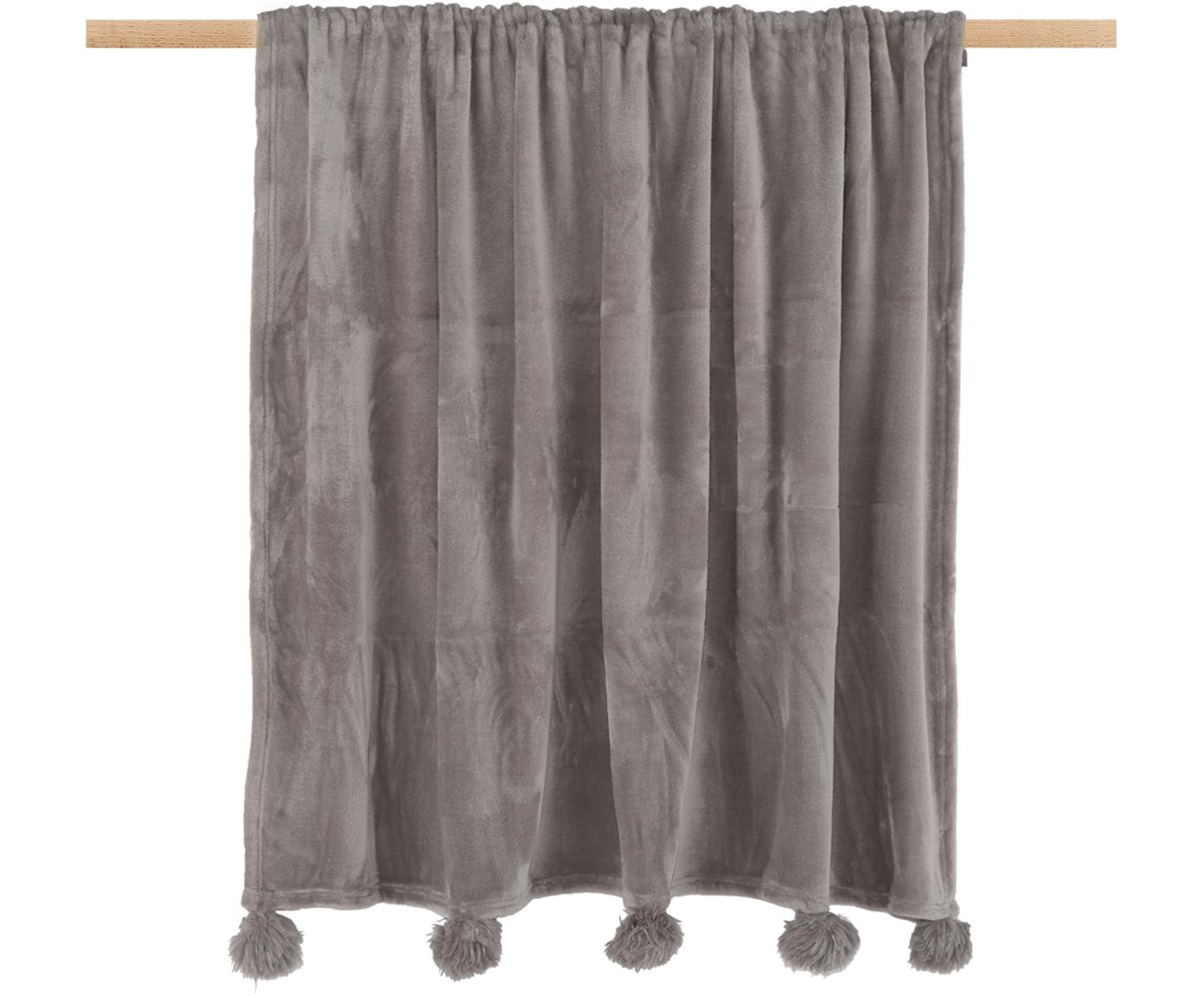 Fleece-Plaid Bomla, 100% Polyester, Taupe, 130 x 170 cm