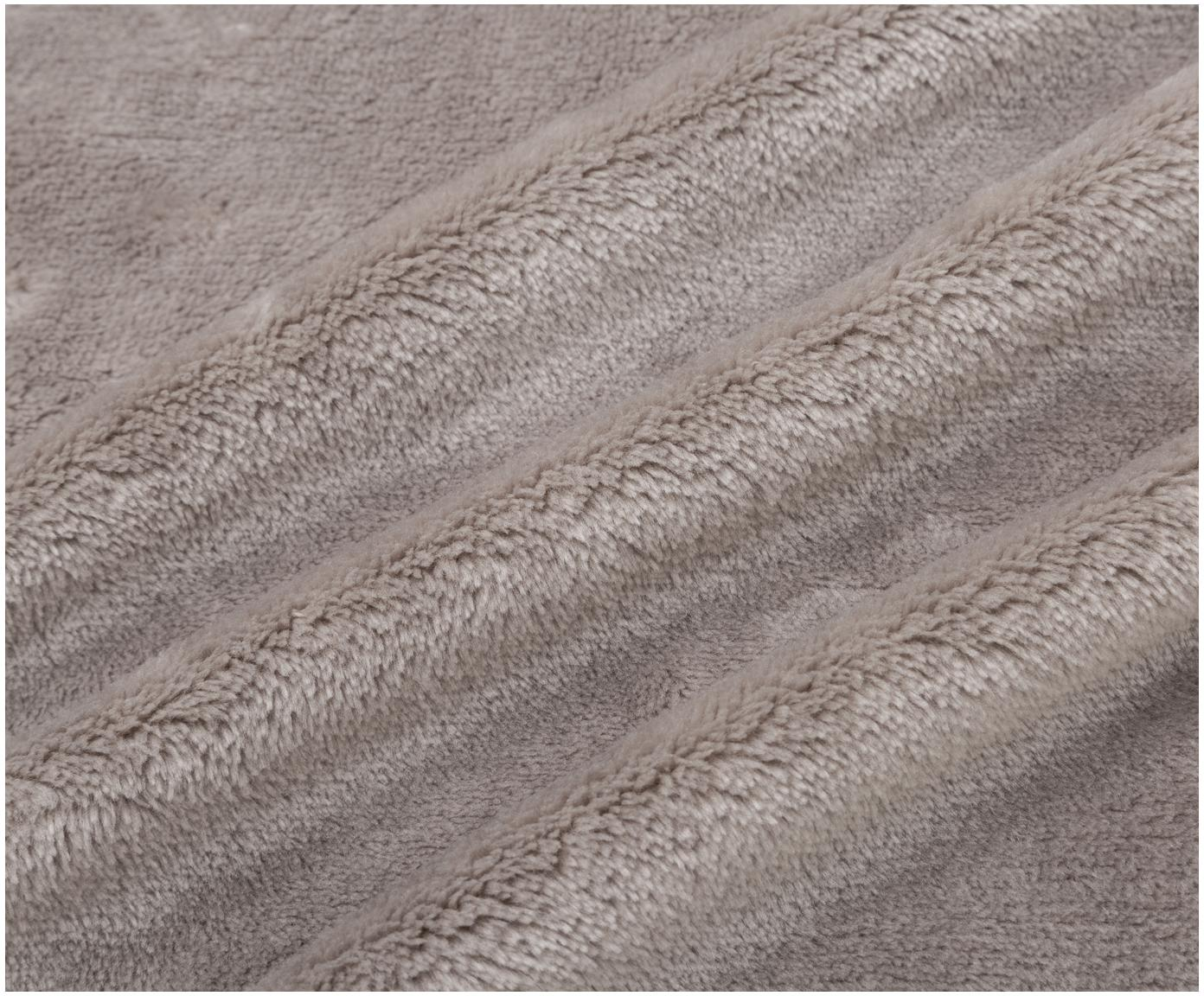 Fleece-Plaid Bomla, 100% Polyester, Taupe, 130 x 170 cm