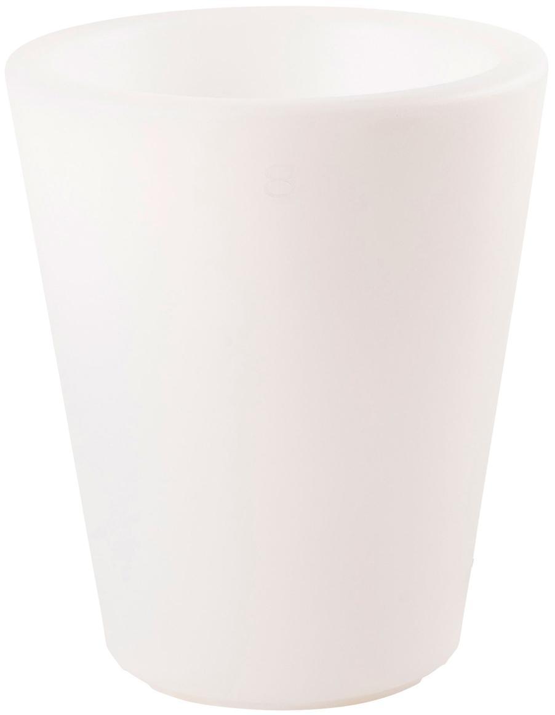 Außenleuchte Shining Pot, Kunststoff (Polyethylen), Weiß, Ø 34 x H 39 cm