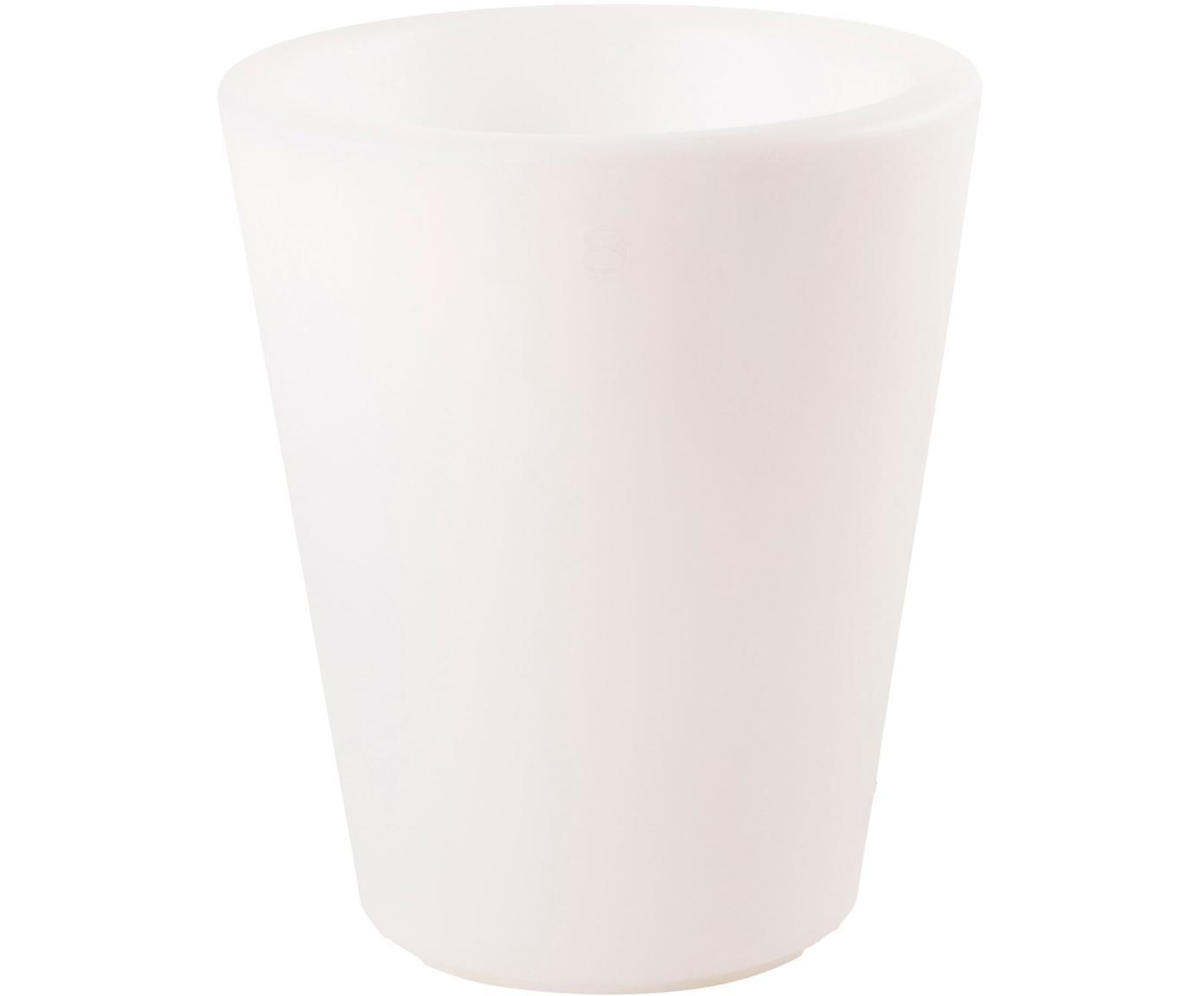 Lampada da esterno portatile Shining Pot, Materiale sintetico, Bianco, Ø 34 x Alt. 39 cm