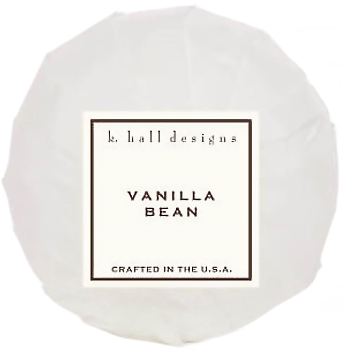 Badekugel Vanilla Bean (Vanille & Tonkabohne), Weiss, Ø 7 x H 7 cm