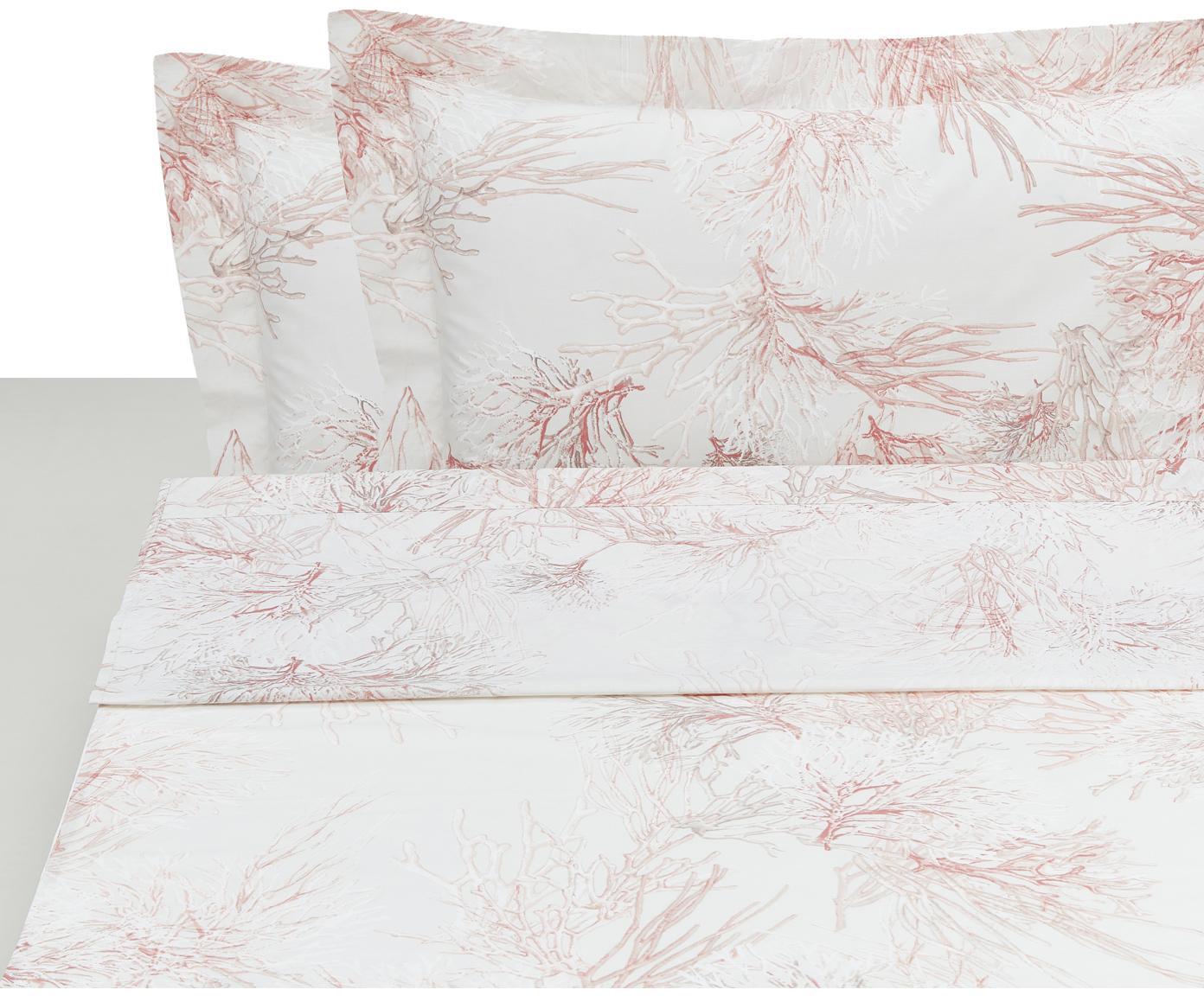 Set lenzuola in percalle Atollo 4 pz, Tessuto: percalle, Rosa, 250 x 290 cm