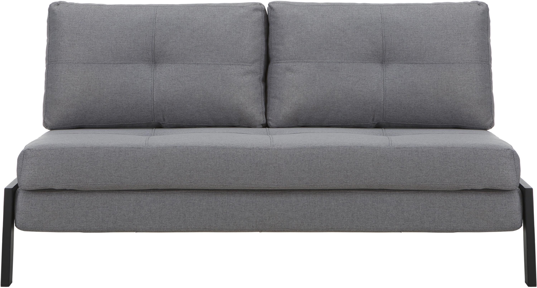 Sofa rozkładana Edward, Tapicerka: 100% poliester 40000 cyk, Ciemny szary, S 152 x G 96 cm