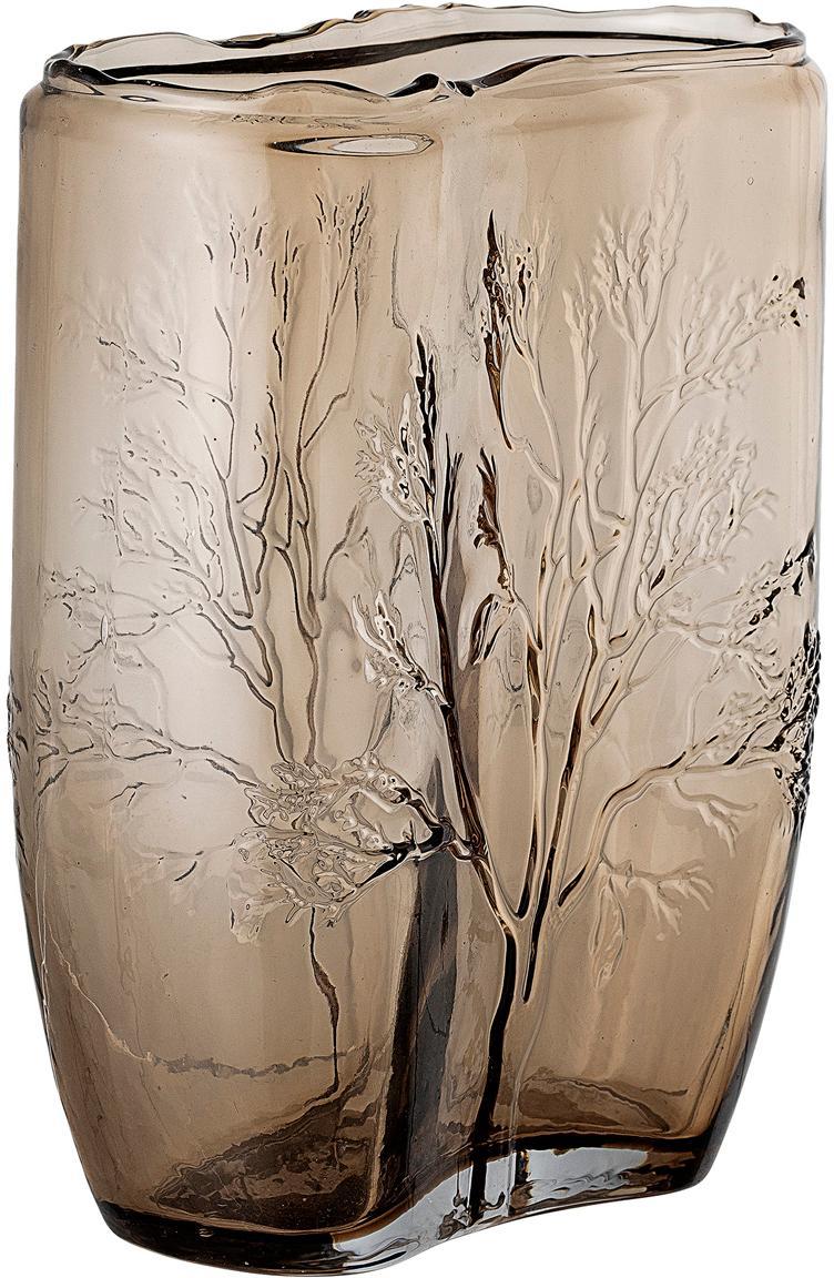 Jarrón Tree, Vidrio, Marrón, transparente, Ø 10 x Al 26 cm