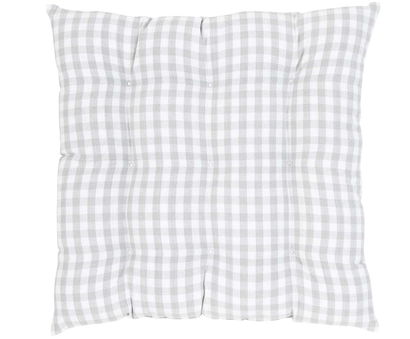 Cojín de asiento Karolin, Gris claro, crema, An 40 x L 40 cm