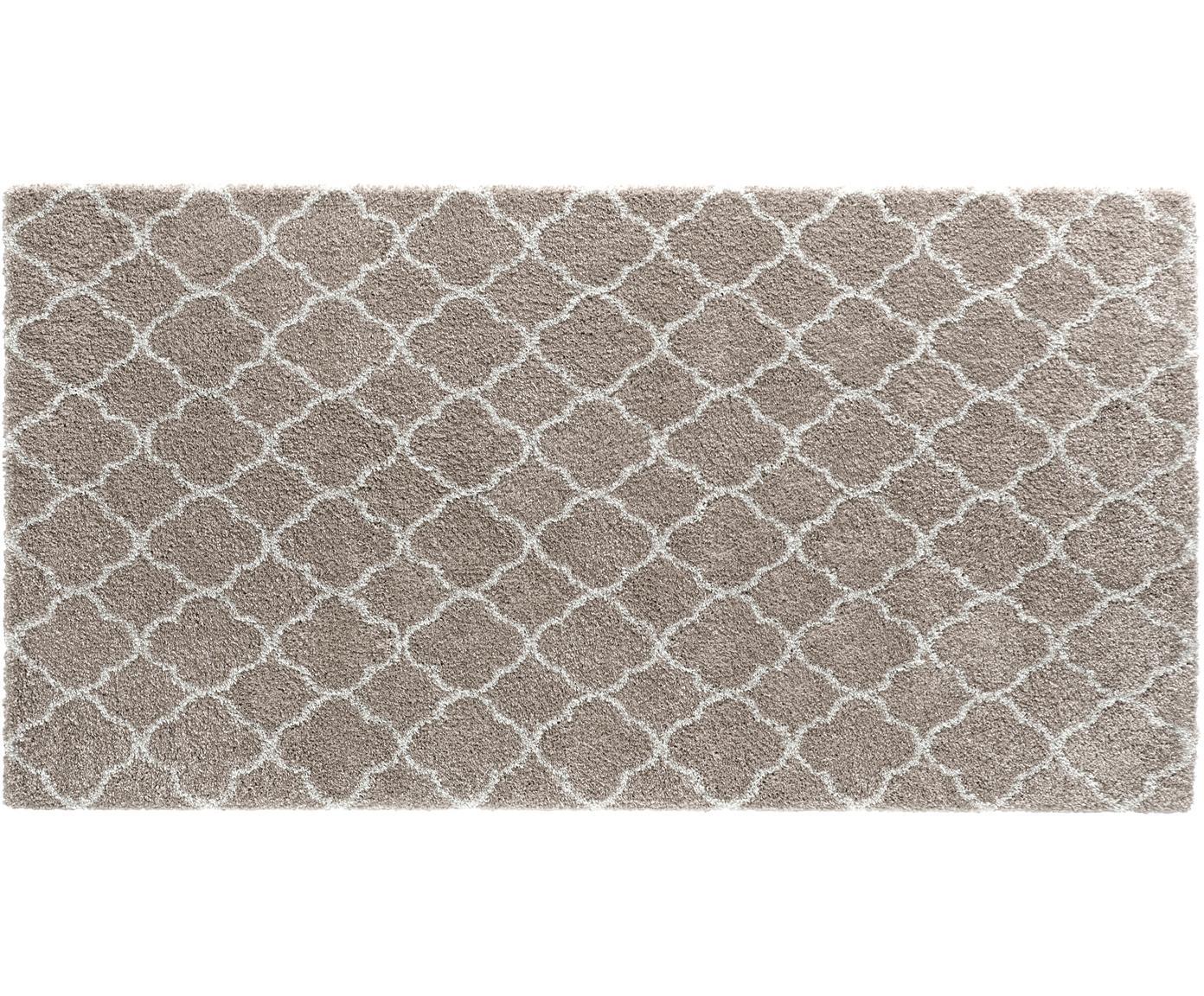 Hochflor-Teppich Grace in Creme/Beige, Beige, Cremefarben, B 80 x L 150 cm (Größe XS)