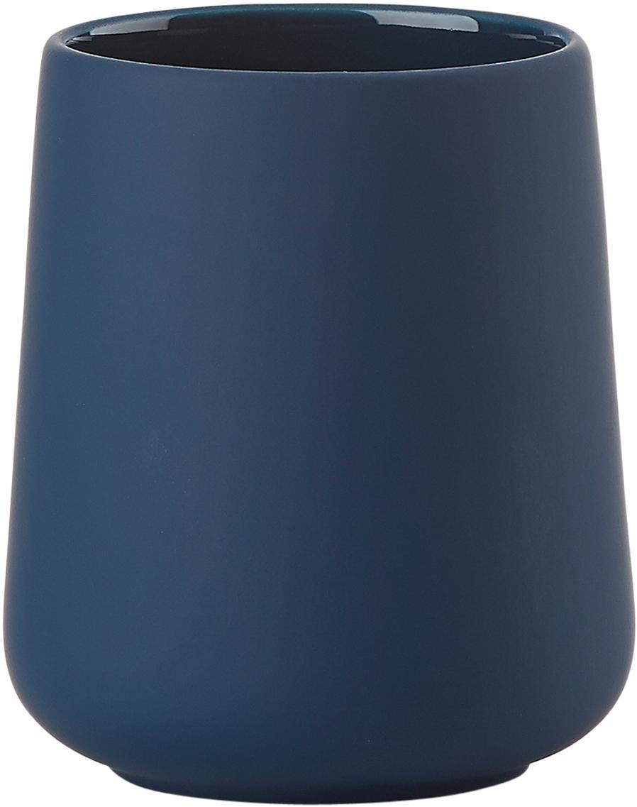 Vaso cepillo de dientes Nova One, Porcelana, Azul real, Ø 8 x Al 10 cm