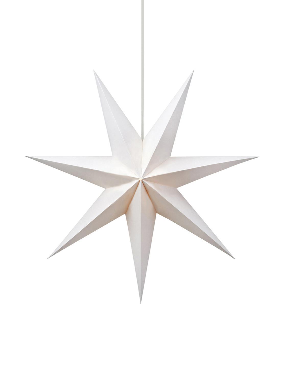 Lámpara estrella Duva, Cable: plástico, Blanco, Ø 75 cm