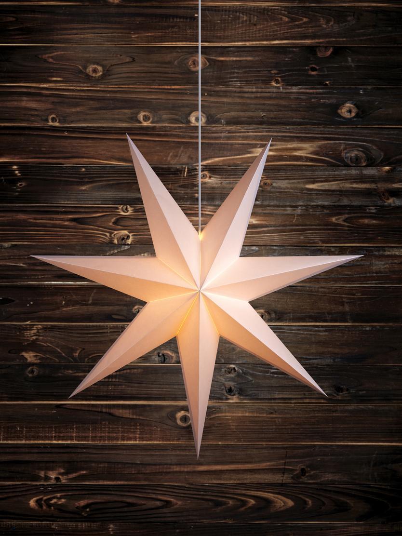 Leuchtstern Duva, Weiß, Ø 75 cm