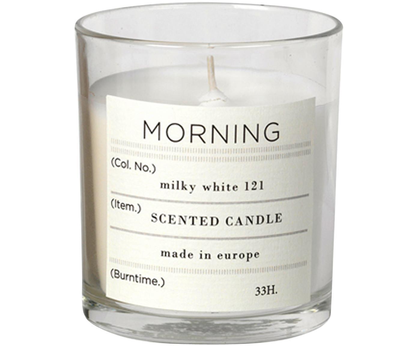 Candela profumata Morning (pompelmo), Cera di soia naturale, vetro, Trasparente, Ø 8 x H 8 cm
