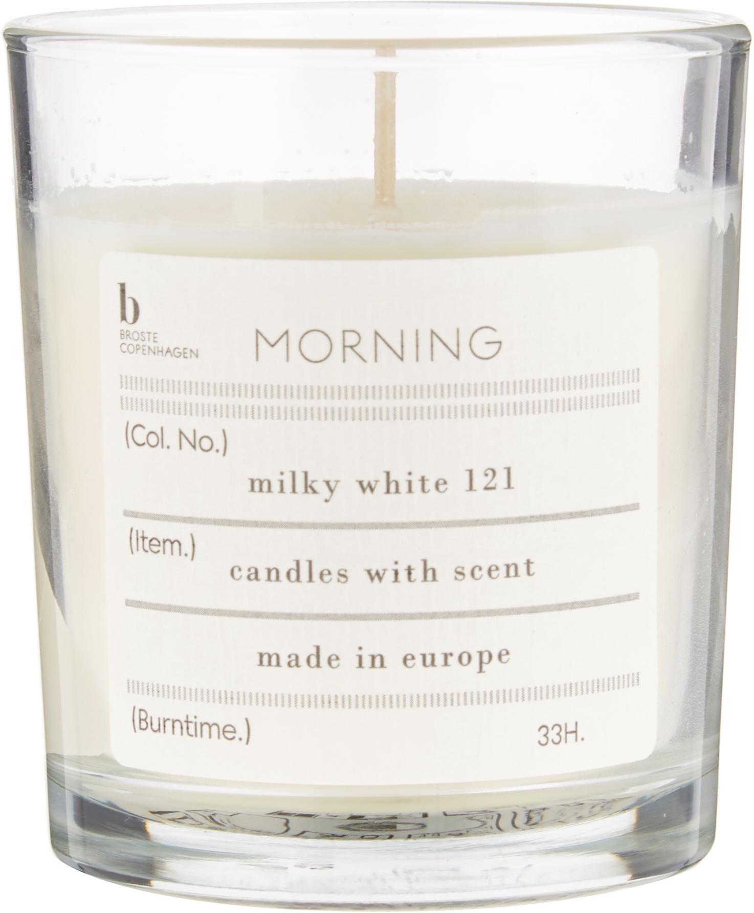Geurkaars Morning (grapefruit), Natuurlijke sojawas, glas, Transparant, Ø 8 x H 8 cm